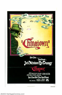 """Chinatown (Paramount, 1974). One Sheet (27"""" X 41""""). Jack Nicholson as Jake Gittes, private detective, gets inv..."""