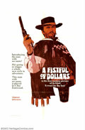 "Movie Posters:Western, Fistful of Dollars (United Artists, 1964). Advance One Sheet, StyleA (27"" X 41""). Clint Eastwood became an international st..."