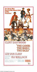 "Movie Posters:Western, Good, the Bad, and the Ugly, The (United Artists, 1968). ThreeSheet (41"" X 81""). Fine. ..."