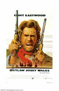 "Movie Posters:Western, Outlaw Josey Wales, The (Warner Brothers, 1976). One Sheet (27"" X41""), Lobby Card Set (11"" X 14""). Clint Eastwood directed ..."