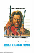 "Movie Posters:Western, Outlaw Josey Wales, The (Warner Brothers, 1976). Oversized OneSheet (29"" X 44""). Offered here is a special promotional one ..."