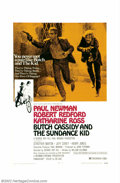 "Movie Posters:Western, Butch Cassidy and the Sundance Kid (20th Century Fox, 1969). OneSheet (27"" X 41""), Style B. Paul Newman and Robert Redford ..."
