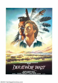 "Dances With Wolves (Orion, 1990). German (23"" X 33""). This poster for the Academy Award winning western is one..."