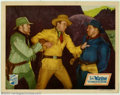 "Movie Posters:Western, Oregon Trail, The (Republic, 1936). Lobby Card (11"" X 14""). BeforeJohn Wayne was the mega-star of ""Stagecoach,"" he was the ..."