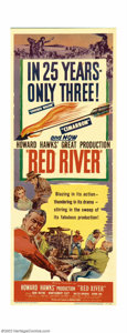 "Movie Posters:Western, Red River (United Artists, 1948). Insert (14""X36""). Director HowardHawks made the unprecedented move of casting John Wayne ..."