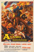 "Movie Posters:Western, Alamo, The (United Artists, 1960). One Sheet (27"" X 41""). JohnWayne leads an all-star cast in this re-enactment of the thir..."