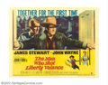 "Movie Posters:Western, Man Who Shot Liberty Valance, The (Paramount, 1962). Half Sheet(22"" X 28""). This half sheet features the best graphics desi..."