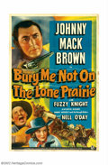 """Movie Posters:Western, Bury Me Not on the Lone Prairie (Universal, 1941). One Sheet (27"""" X41""""). Johnny Mack Brown, a star from the silent era, was..."""