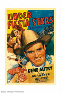 "Movie Posters:Western, Under Fiesta Stars (Republic, 1941). One Sheet (27"" X 41""). GeneAutry became Republic Studios top money making draw during ..."
