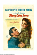 "Movie Posters:Western, Along Came Jones (RKO, 1945). One Sheet (27"" X 41""). Gary Cooper iscast as Melody Jones, a singing cowboy, in this western ..."