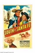 "Movie Posters:Western, South of Santa Fe (Republic, 1942). One Sheet (27"" X 41""). BeforeRoy Rogers teamed up with his wife, Dale Evans, he appeare..."
