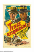 "Movie Posters:Western, Texas Masquerade (United Artists, 1944). One Sheet (27"" X 41"").William Boyd was ""Hopalong Cassidy"" for 66 pictures from 193..."