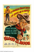 "Movie Posters:Western, Blood on the Moon (RKO, 1948). One Sheet (27"" X 41""). RobertMitchum was hot from his success in ""Out of the Past"" and ""Cros..."