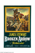 "Movie Posters:Western, Broken Arrow (20th Century Fox, 1950). One Sheet (27"" X 41""). Thiswas a very unconventional western at the time of its rele..."