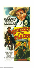 "Movie Posters:Western, Spoilers of the Plains (Republic, 1951). Three Sheet (41"" X 81"").Roy Rogers. ..."