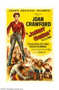 """Movie Posters:Western, Johnny Guitar (Republic, 1954). One Sheet (27"""" X 41""""). NicholasRay, one of Hollywood's most admired non-conformist director..."""
