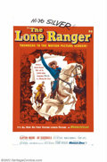 "Movie Posters:Western, Lone Ranger, The (Warner Brothers, 1956). One Sheet (27"" X 41"").Clayton Moore and Jay Silverheels had already become televi..."
