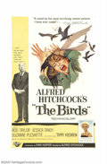"""Movie Posters:Horror, Birds, The (Universal, 1963). One Sheet (27"""" X 41""""). Alfred Hitchcock's adaptation of Daphne Du Maurier's novel has become a..."""
