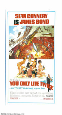 "You Only Live Twice (United Artists, 1967). Three Sheet (41"" X 81""). This fantastic poster utilizes two of the..."