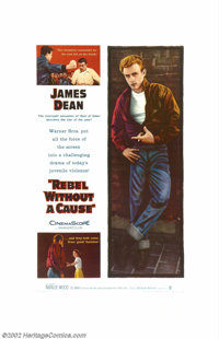 """Rebel Without a Cause (Warner Brothers, 1955). One Sheet (27"""" X 41""""). The title alone summed up a generation o..."""