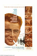 """Movie Posters:Drama, James Dean Story, The (Warner Brothers, 1957). One Sheet (27"""" X 41""""). This documentary about the life of James Dean features..."""