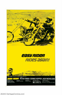 "Easy Rider (Columbia, R-1974). One Sheet (27"" X 41""). This is the poster to get on this landmark motion pictur..."