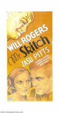 "Movie Posters:Comedy, Mr. Skitch (Fox, 1933). Three Sheet (41"" X 81""). Will Rogers is thehead of a large family that fall victim to the Great Dep..."