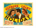 "Movie Posters:Comedy, Holiday (Columbia, 1938). Half Sheet (22"" X 28""). This successfulscrewball comedy was directed by George Cukor who would la..."