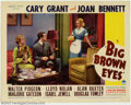 "Movie Posters:Comedy, Big Brown Eyes (Paramount, 1936). (2) Lobby Cards (11"" X 14""). Cary Grant was on the verge of becoming a star when he made t..."