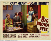 "Big Brown Eyes (Paramount, 1936). (2) Lobby Cards (11"" X 14""). Cary Grant was on the verge of becoming a star..."