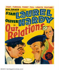 "Movie Posters:Comedy, Our Relations (Metro Goldwyn Mayer, 1936). Window Card (14"" X 17"").This delightful Roach feature has Laurel and Hardy unkno..."