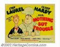 "Movie Posters:Comedy, Nothing But Trouble (MGM, 1944). Title Lobby Card (11"" X 14""). AlHirschfeld was the resident character sketch artist at MGM..."