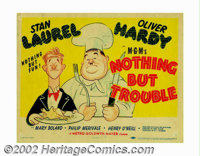 "Nothing But Trouble (MGM, 1944). Title Lobby Card (11"" X 14""). Al Hirschfeld was the resident character sketch..."