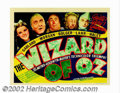 "Movie Posters:Musical, Wizard of Oz, The (MGM, 1939). Title Lobby Card (11"" X 14""). What more can said about this musical extravaganza, that hasn't..."