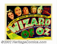 "Wizard of Oz, The (MGM, 1939). Title Lobby Card (11"" X 14""). What more can said about this musical extravaganz..."