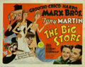 "Movie Posters:Comedy, Big Store, The (MGM, 1941). Title Lobby Card (11"" X 14""). The Marx Brothers are up to their old tricks again as Groucho is e..."