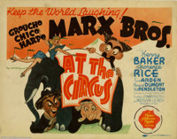 """At The Circus (MGM, 1939). Title Lobby Card (11"""" X 14""""). Al Hirschfeld was at the drawing board again with the..."""