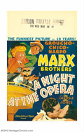 "Movie Posters:Comedy, A Night at the Opera (MGM, 1935). Window Card (14"" X 22""). With this film the great character sketch artist Al Hirschfeld fi..."