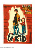 "Movie Posters:Comedy, Kid, The (First National, 1922). French (45"" X 61""). Very Fine onLinen. ..."