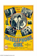 "Movie Posters:Serial, Telephone Girl (FBO, 1924). One Sheet (27"" X 41""). Chapter 10 ""Love and Learn."" This one sheet was for an early FBO serial s..."