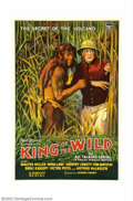 """Movie Posters:Serial, King of the Wild (Mascot, 1931). One Sheet (27"""" X 41"""") This serialpresented in 12 episodes tells the story of American Robe..."""