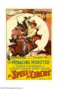 """Movie Posters:Serial, Spell of the Circus (Universal, 1931). One Sheet (27"""" X 41"""")Chapter 1 """"The Menacing Monster."""" The chapter one poster for al..."""