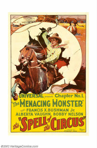 "Spell of the Circus (Universal, 1931). One Sheet (27"" X 41"") Chapter 1 ""The Menacing Monster."" The c..."