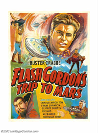 Flash Gordon's Trip to Mars (Universal, 1938). Indian One Sheet. This foreign poster is more exciting in many ways than...