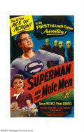 """Movie Posters:Action, Superman and the Mole Men (Lippert, 1951). One Sheet (27"""" X 41"""") George Reeves played the Man of Steel from 1953 to 1957 on ..."""