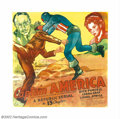 "Movie Posters:Serial, Captain America (Republic, 1944). Six Sheet (81"" X 81""). With thesuccess of Captain Marvel and the Phantom, Republic serial..."