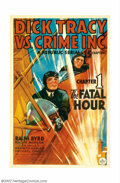 "Movie Posters:Serial, Dick Tracy vs Crime Inc.(Republic, 1941). One Sheet (27"" X 41"")Chapter One ""The Fatal Hour"". Ralph Byrd starred as Dick Tra..."