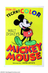"""Mickey Mouse Stock Poster (United Artists, 1935). One Sheet (27"""" X 41""""). In 1935 when United Artists began to..."""