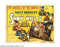 """Snow White and the Seven Dwarfs (RKO, 1937). Half Sheet (22"""" X 28""""). In its planning and production phases it..."""
