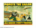 "Movie Posters:Animated, Popeye the Sailor Meets Ali Baba's Forty Thieves (Paramount, 1937). Half Sheet (22"" X 28""). During the late thirties as Disn..."